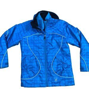 SPYDER jacket kids youth Size 10 attachable fleece